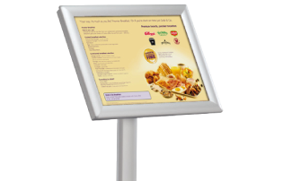 Menu & Info Display Stands